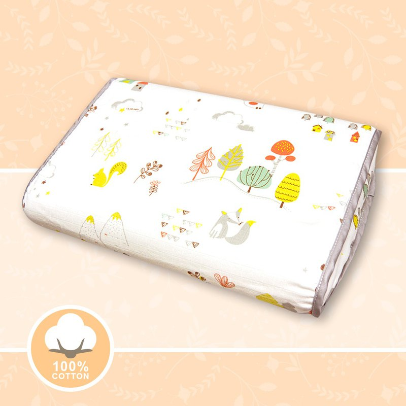 3D Breathable Baby Pillow - White Country