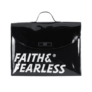 Faith & Fearless PVC FOLDER BLACK Briefcase