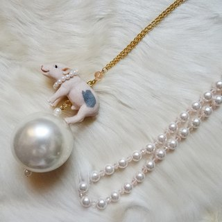 Sedmikrasky Sedmic Rusky Riding Little Pig Long Necklace