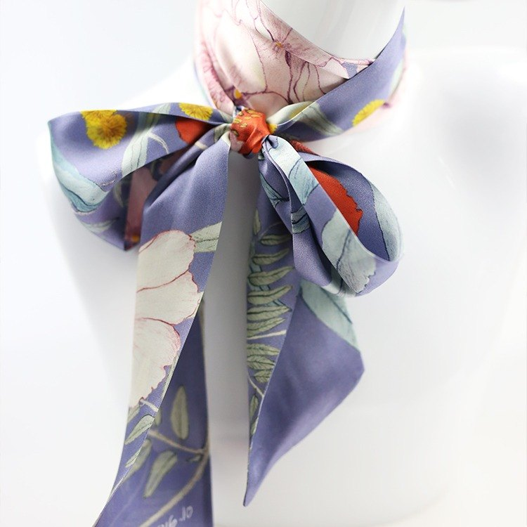 Hydrangea Purple / Plant Beauty Series / Artist Original / Scarf / Hairband / Cap Band