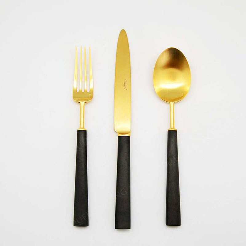 | Cutipol | EBONY Matte Gold 3 Pieces Set