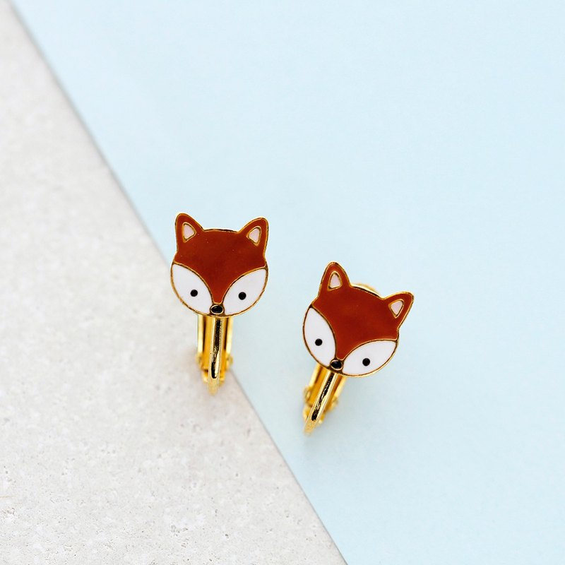 Foxy Earrings with Earclip