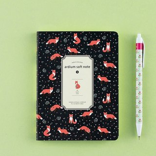 ARDIUM silky notebook (small) - Deep Blue Fox