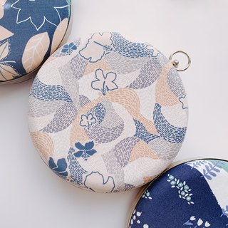 Korean abstract little floral round bag - can be used / handed back