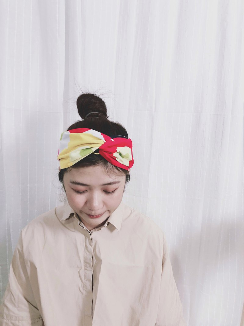 Xiaochunri and towel hat type x Finnish series elastic wide version / handmade hair band