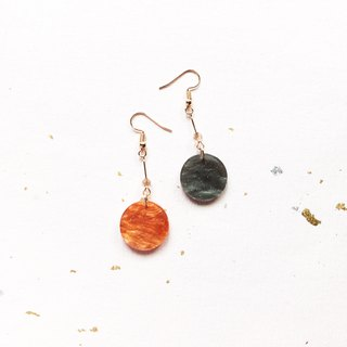 Mercury and Mars drop earrings can be changed ear clip