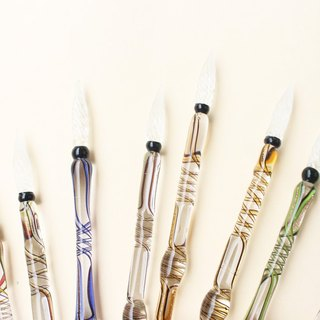 [Limited Collector's Edition] Italian style streamlined glass pen | Francesco Rubinato