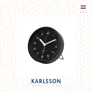 Karlsson, Alarm clock Rounded Numbers steel black