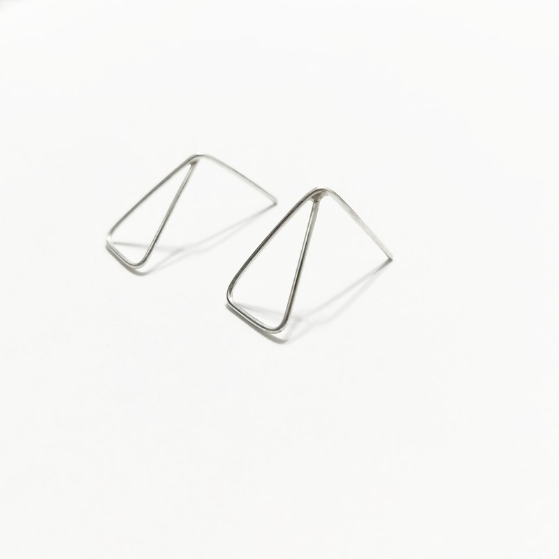 │ Geometry │ Simple Triangle • Sterling Silver Earrings • Pure Silver Ear Clips