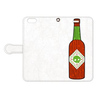 [Notebook type iPhone case] Poison Sauce / White