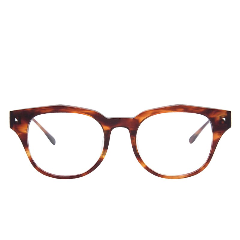 AMERICANO TORTOISESHELL Amber Brown Italian Plate Optical Glasses Frame Glasses