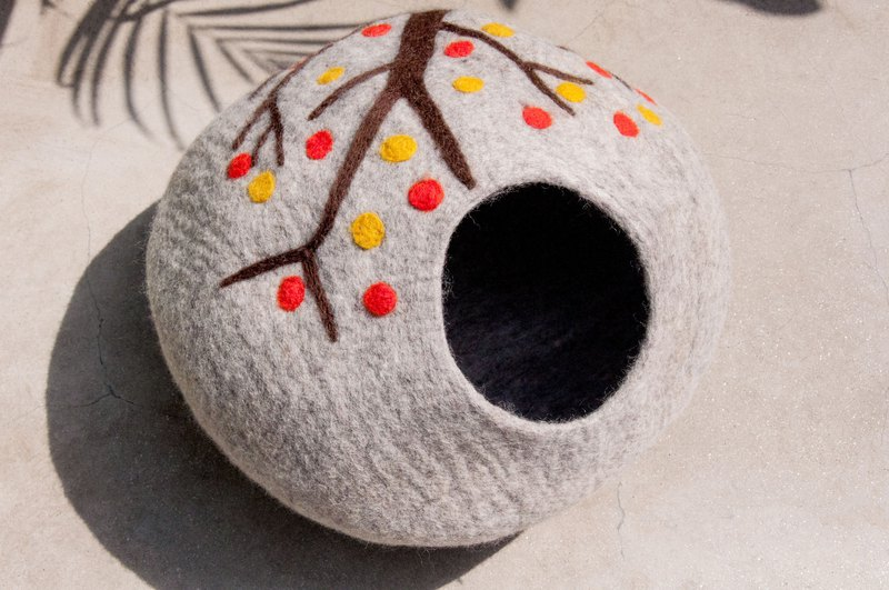 Wool felt exclusive pet supplies cat house cat litter cat bed cat supplies cat toys - natural forest wind
