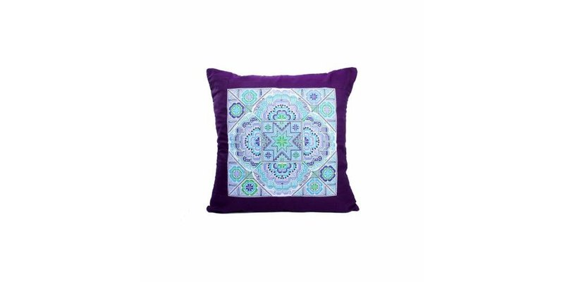 【Grooving the beats】】[ Fair Trade] Hmong Embroidered Sok Star Hill Tribe Pillow Case