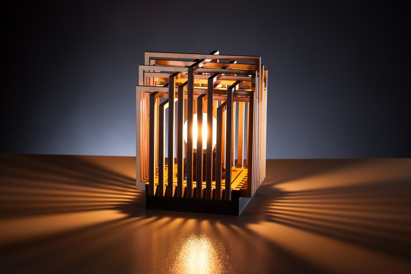 Zen wooden light - Overlap