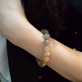 108 perles orange sun stone face bracelet 10mm