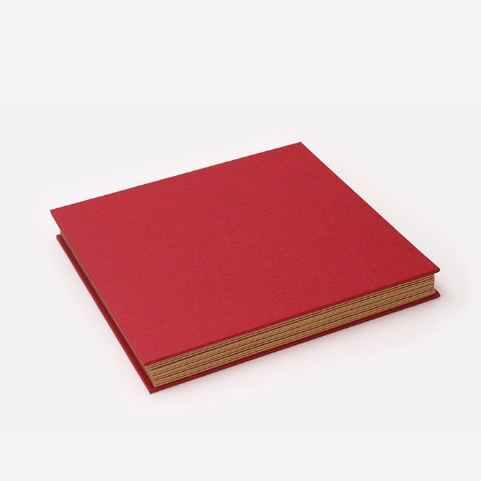 Three summer light years classic solid color folding organ models DIY album creative gifts large square (red)
