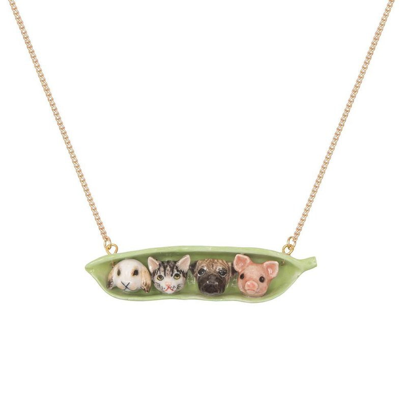 "And Mary Pet Peas in pod Necklace | 24""/28"" 