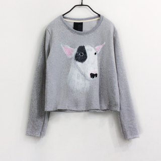 bull terrier: long sleeve crop top