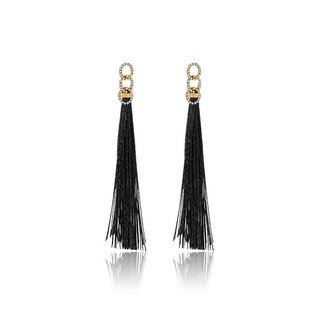 Chain Shape Tassel Diamond Earring
