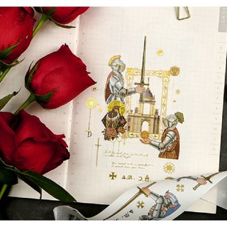 Roman top bronzing series and paper tape 16 optional hand book album diary DIY decorative stickers
