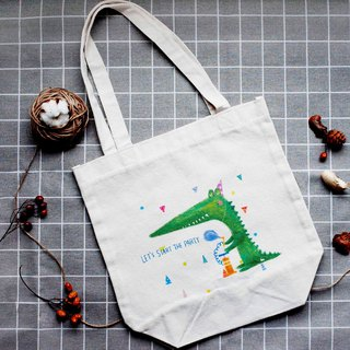 [party animal] crocodile canvas bag
