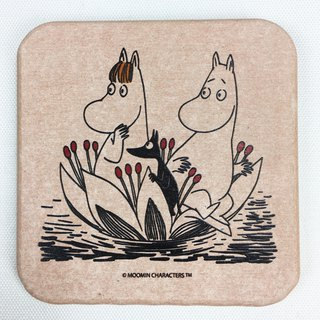 Moomin glutinous rice authorized - diatomaceous earth water coaster (powder), AE02