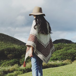 Boho Slider Pattern Mosaic knit shawl knitting plans and weaving instructions without wires and tools