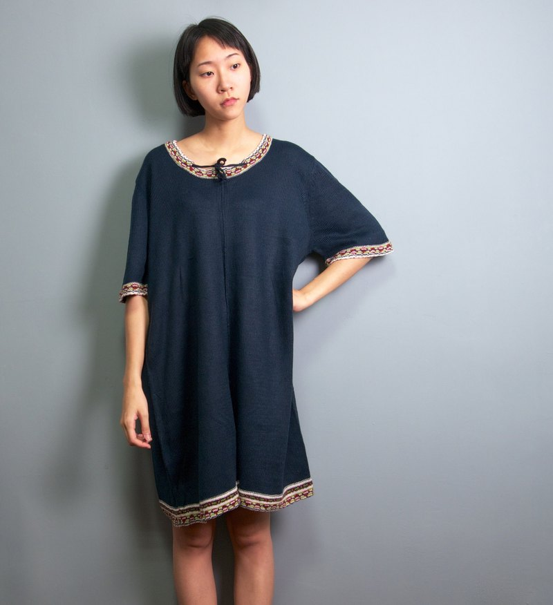 FOAK Ancient Tibetan Ethnic Knit Knit Dress