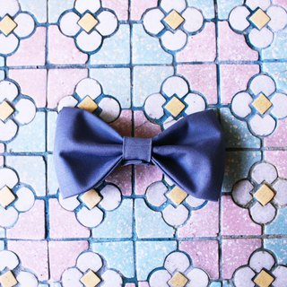 British Handmade Cotton Bow Retro Vintage Grey Pin Bowtie Valentine's Day Gift/Remembrance Day/Father's Day