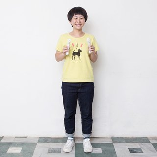 Mushroom MOGU / Organic Cotton / Short Sleeve / Taiwanese Dog