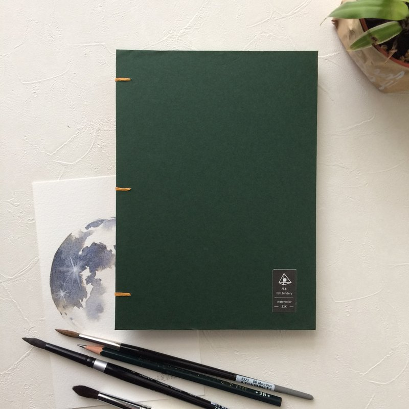 Out of print display | 190 pounds 32 open waterford | dark green portable watercolor this sketchbook