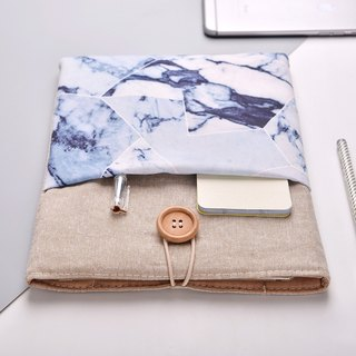 "Personalized Laptop Sleeve 13 Inches with Marble Patterns, Macbook Air Sleeve, 13"" Macbook Case, Laptop Cover Fabric with lining, A02"