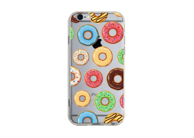 Colorful Donuts Transparent Phone Case for iPhone Samsung Huawei Sony Xiaomi