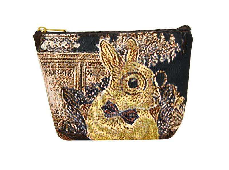 Silk flower woven storage bag M rabbit house coffee
