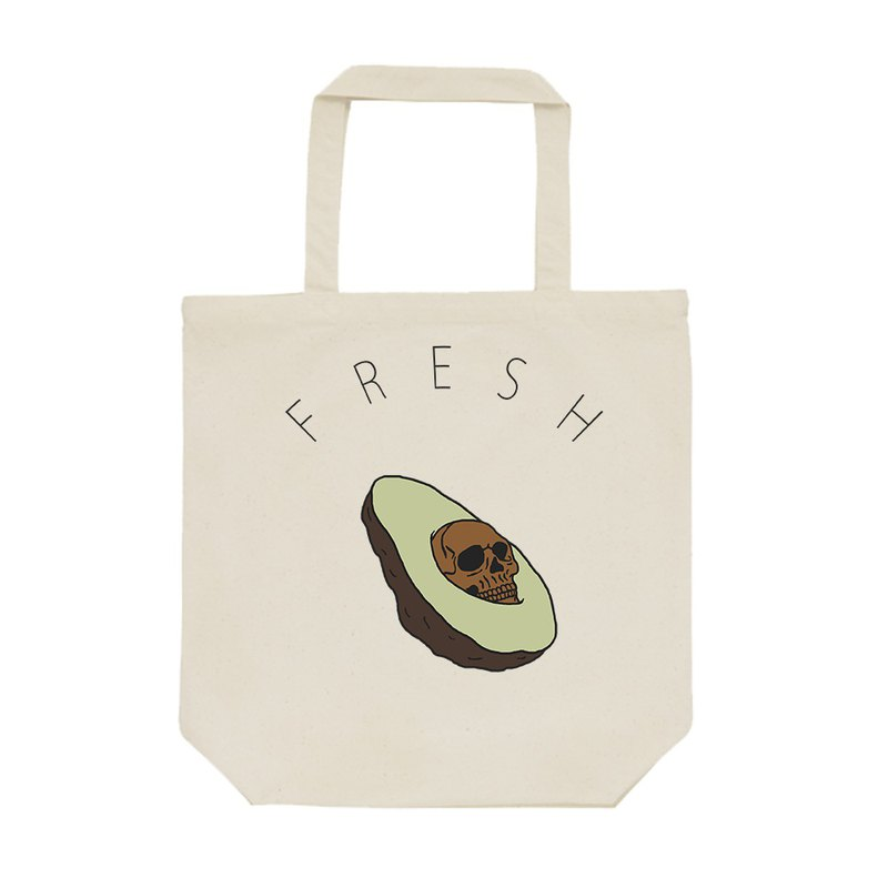tote bag / Creepy avocado