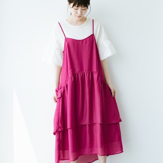Tiered cami dress (Fuchsia pink)