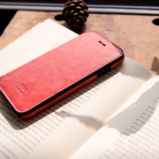 Alto iPhone 8 Folding Leather Phone Case 4.7吋 Foglia - Coral Red