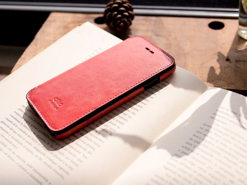 red leather phone case iphone 8