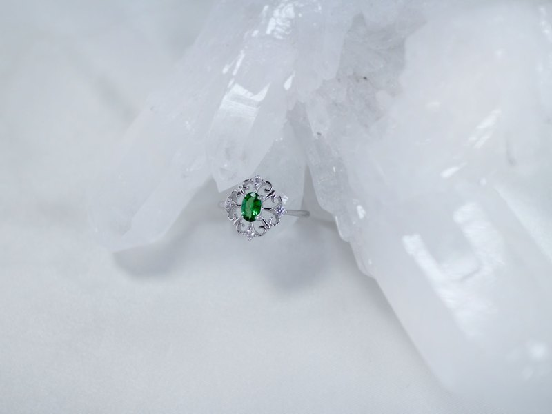 [Valley Small Gemstone Series - Shaflai Stone] 925 Sterling Silver Ring