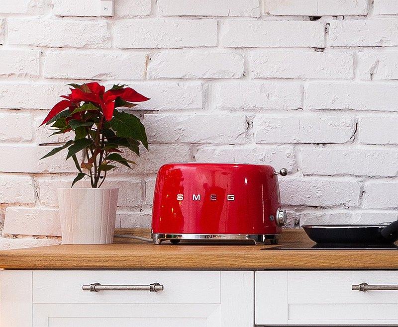 【SMEG】義大利復古美學 2片式烤麵包機-魅惑紅