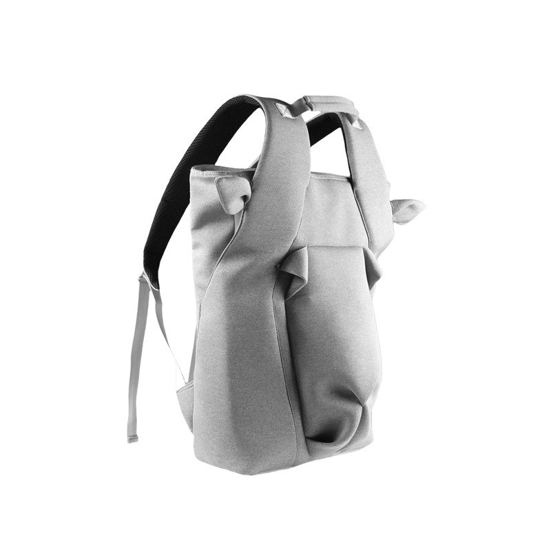 ORIBAGU Origami Bags_ Grey Horned Goat Backpack
