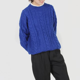 [Egg plant ancient] Yanghai breath twist braided vintage sweater
