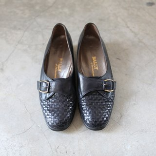 A ROOM MODEL - VINTAGE, BALLY black knit shoes / SC-0979