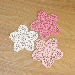 A set of three-color cherry blossom coasters Sakura Coaster