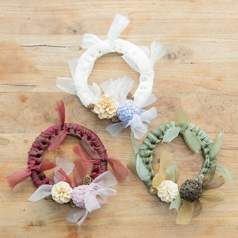 [Shinji Susumu Pinkoi Limited Edition] Wreath set with blooming knitting fruit that colors winter-Surprise Susumu