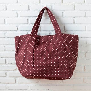 Summer Tote Dot Brown