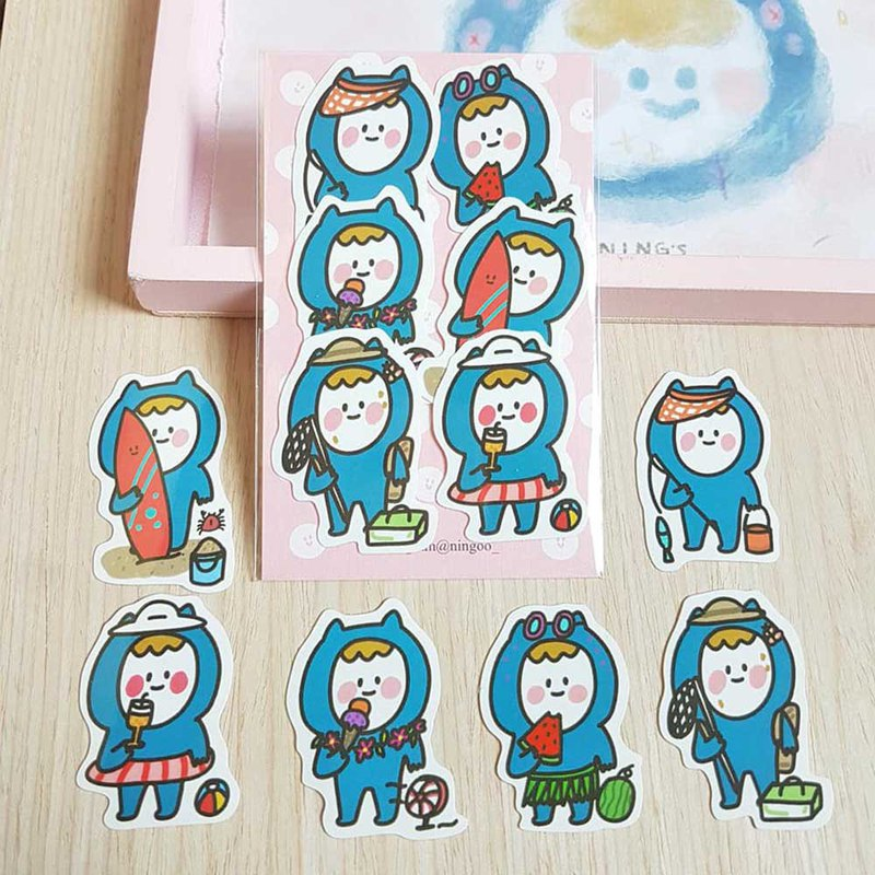 Ning's-character sticker (6 in)
