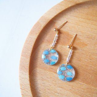 water droplets cloud earrings