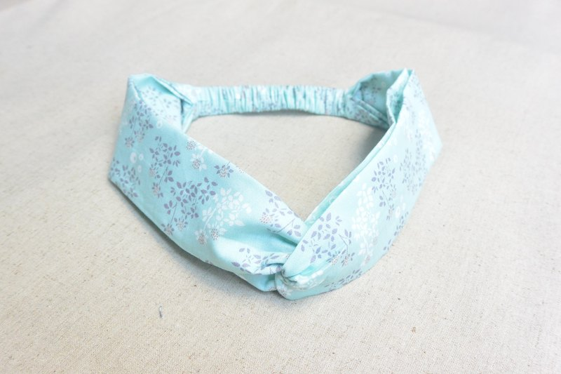 Elastic hair band - water blue