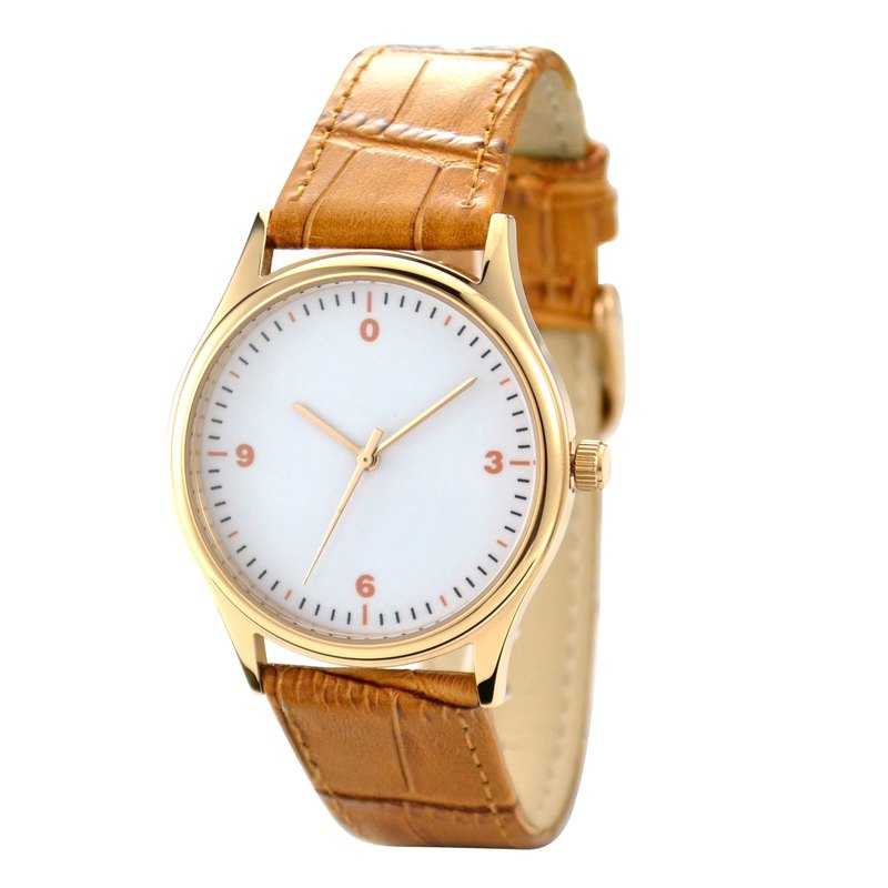 Minimalist Numbers Watch  Rose Gold  Free shipping Worldwide